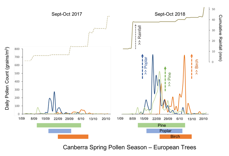 Tree pollen EXTREME in 2018 in Canberra - Canberra Pollen